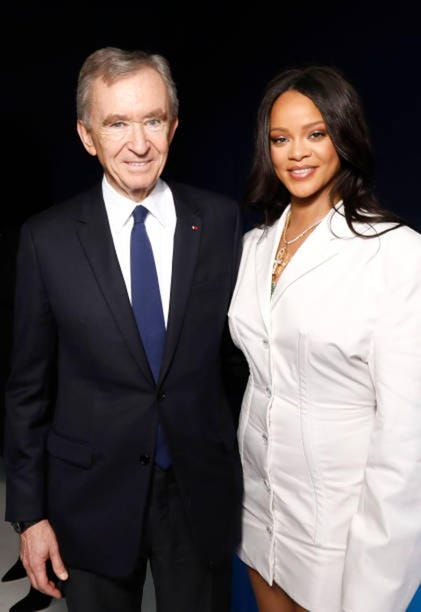 Bernard Arnault is partnering with Rihanna on a beauty brand and soon-to-launch fashion line.