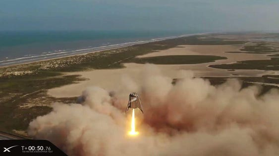 SpaceX Launches Starhopper On Stunning Final Flight, And