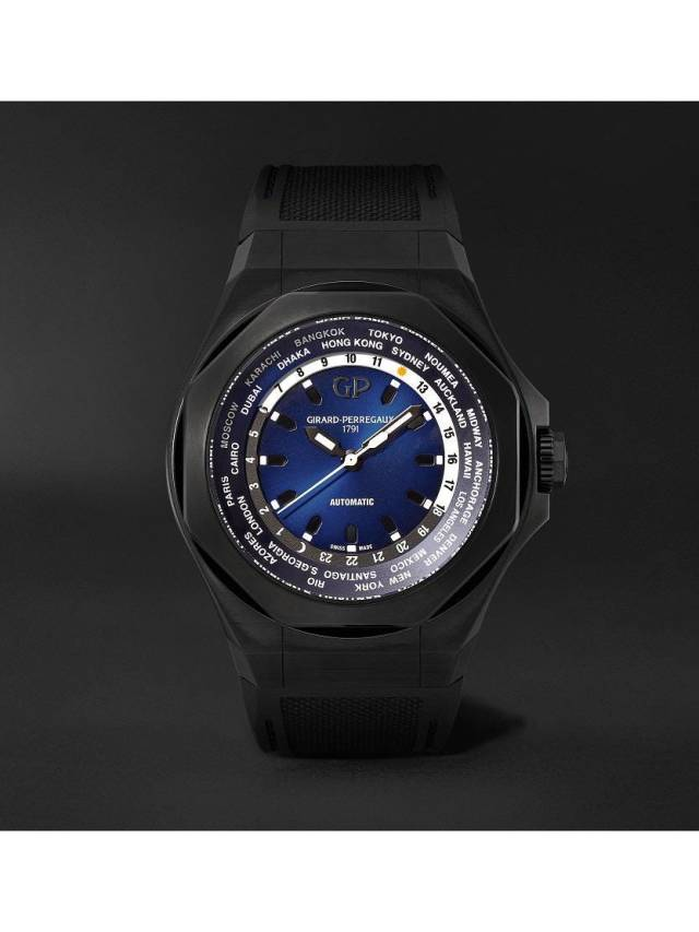 Girard-Perregaux Laureato Absolute WW.TC 44mm Titanium And Rubber Watch