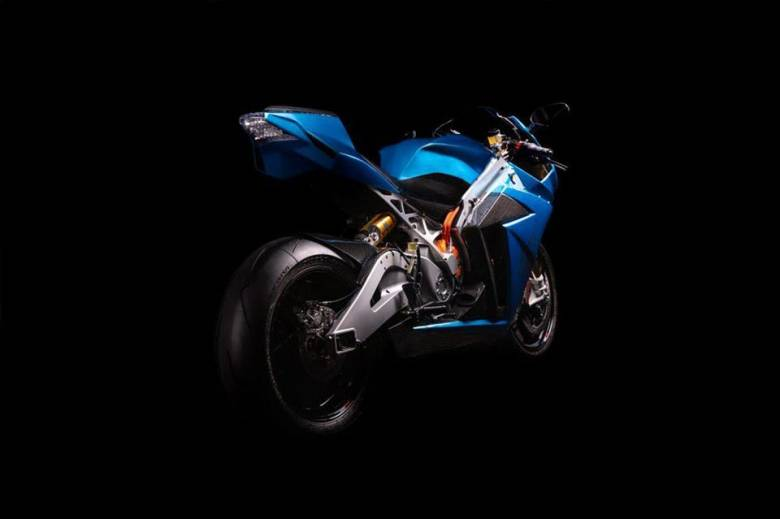 The Strike features a liquid-cooled motor tucked down low near the rear swingarm pivot point.