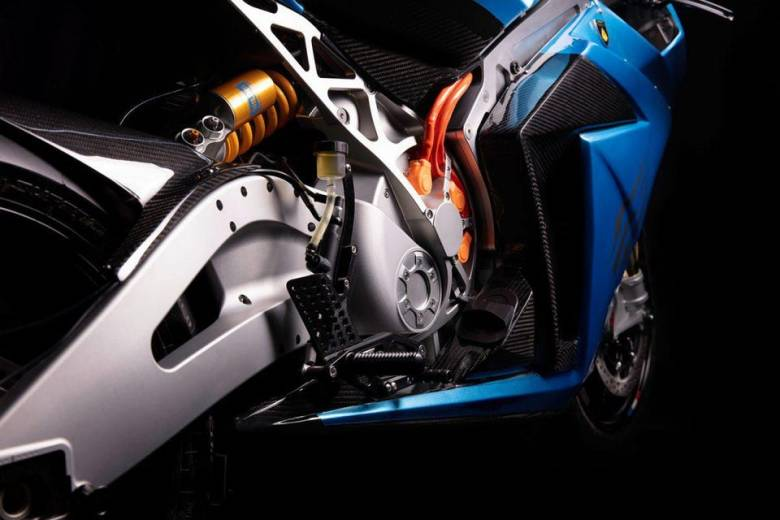 The new normal: Heavy-gauge wiring feeds power into the Strike's motor - or back into the battery when braking.