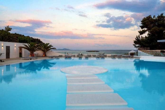 Pool views from Marpunta Resort in Alonissos
