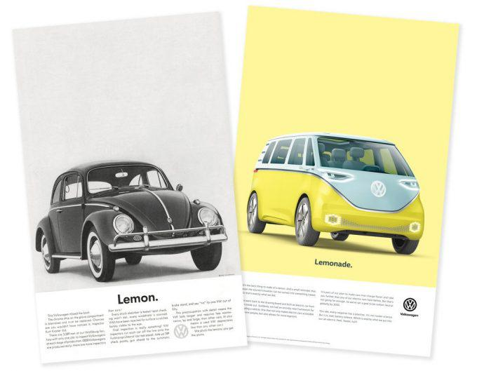 Volkswagen's new ad campaign nods to its recent diesel engine scandal, but works to look forward to... [+] a more electric future.