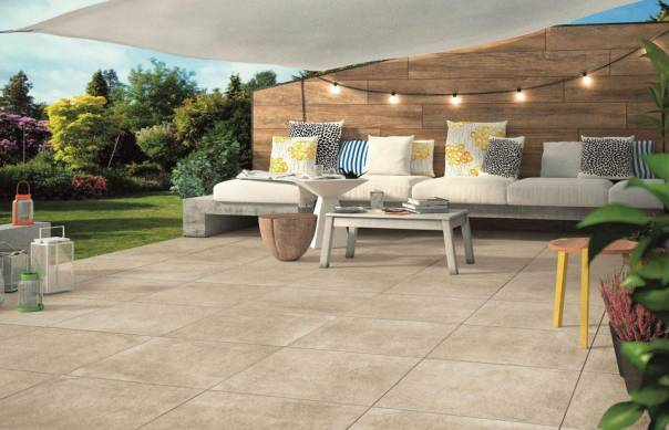 Outdoor living areas are sharing contemporary styles with their indoor counterparts.