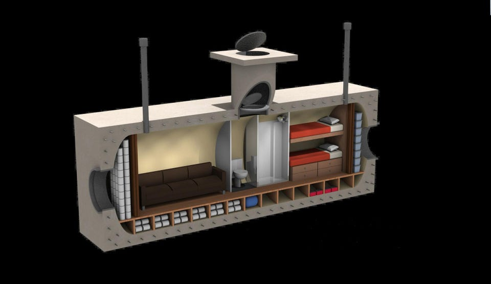 Personal bunkers for private residences. The Quantum in a Box from Vivos