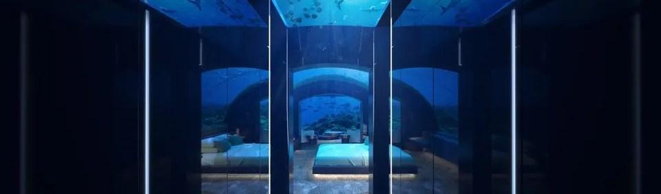 Underwater suite in the Maldives