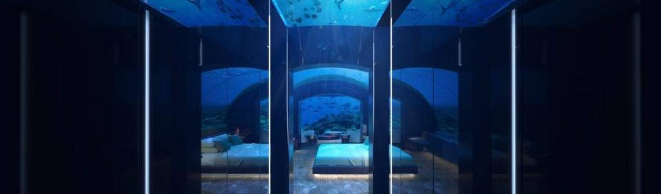 Underwater suite in the Maldives