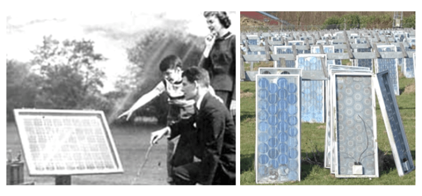 Bell Labs, 1954. Solar Panel Waste, 2014
