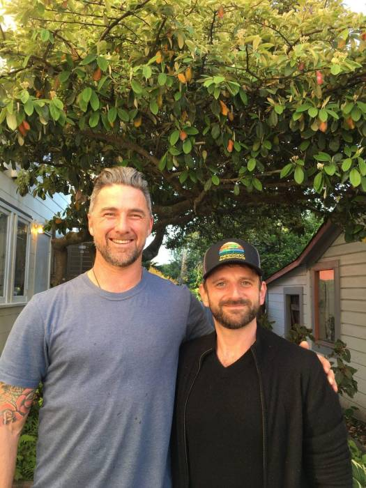 Location: Emerald Exchange office in Mendocino, CA Michael Katz on right, Justin Calvino on the left