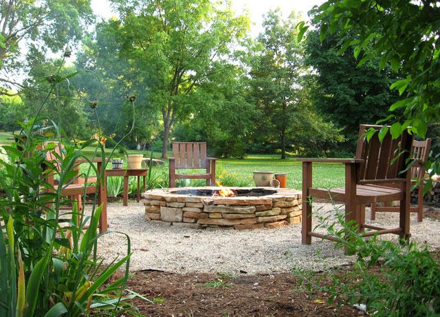 build a backyard fire pit for less than