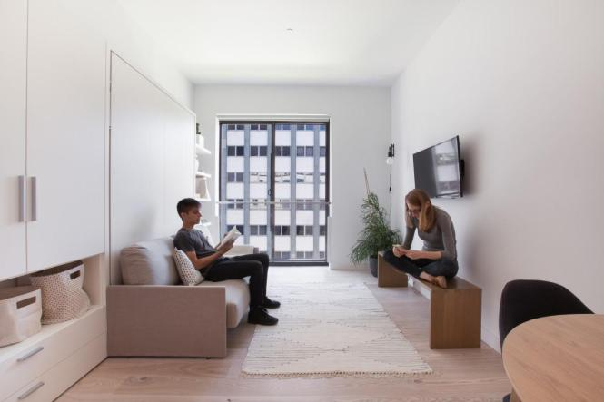 Inside New York City S First Luxury Micro Apartment Building