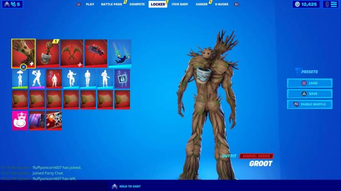 Fortnite Baby Groot Location Where To Rescue Sapling Groot From The Holly Hedges Nursery