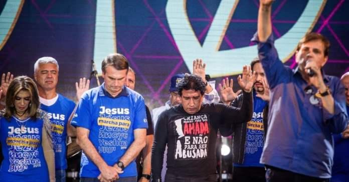 Pré-candidato à Presidência, o deputado federal Jair Bolsonaro participou da 26° Marcha para Jesus.