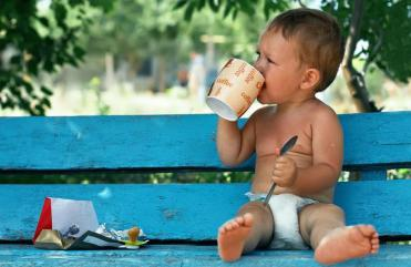 Image result for child drinking espresso