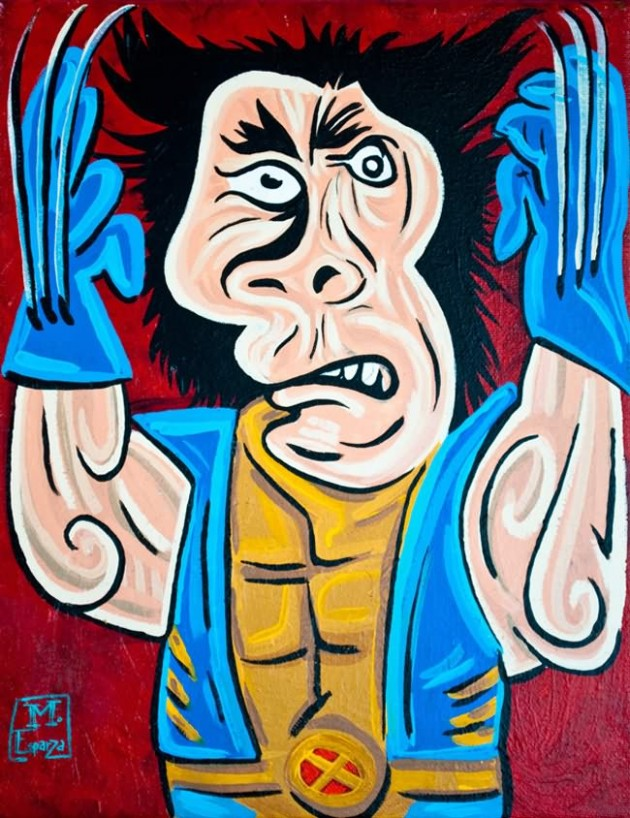 Wolverine Painting 630x818 What If Picasso Painted Superheroes?