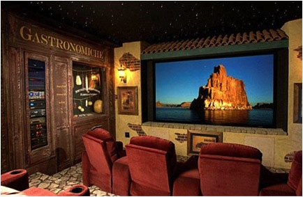 italian themed 10 Incredible Home Theaters