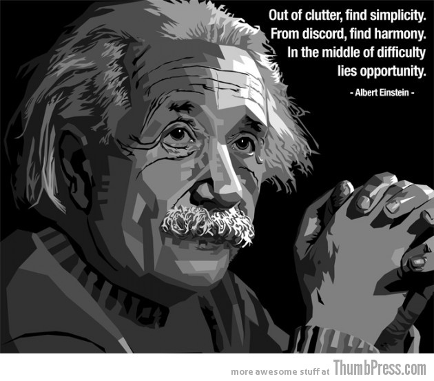 Albert Einstein 630x553 15 Awesome Inspirational Quotes by Celebrities and Famous People
