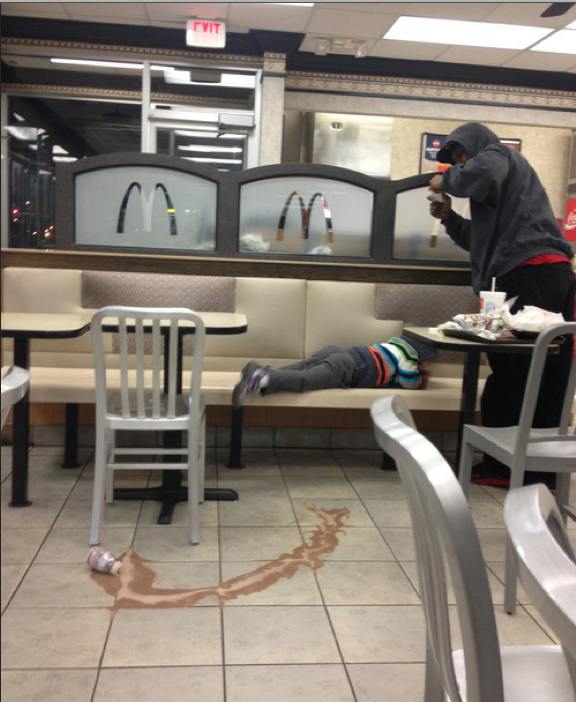 17. Son bawling cause he spilled his milkshake…INSTAGRAM IT. The Biggest WTF & Fails From McDonalds — 20 Pics