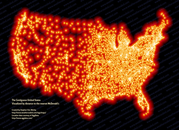 18. A map of every McDonald's in America. The Biggest WTF & Fails From McDonalds — 20 Pics