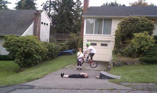 People Having a Bad Day — Bike Jump