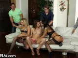 3 Teen Tramps have Nasty Orgy