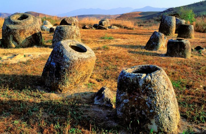 Image result for plain of jars in laos