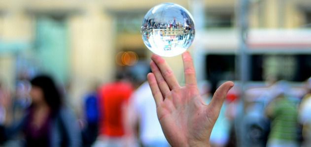 This crystal ball won't help you.