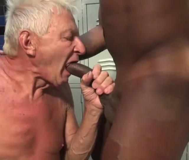 Scrawny Old Man Feasts On Big