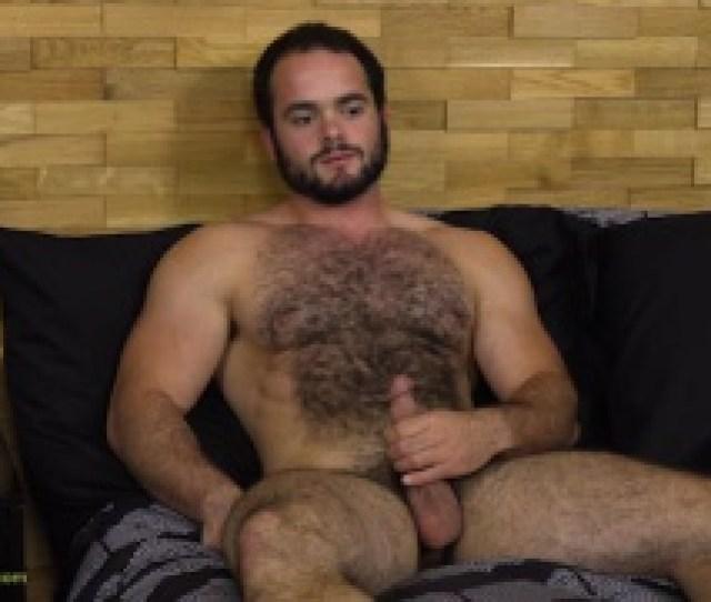 Bearded Furball Strokes His Cock