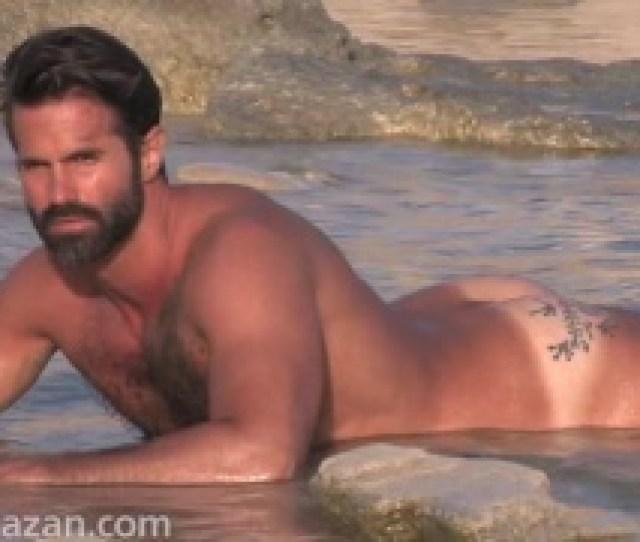 Bearded Spanish Man Lying Naked In