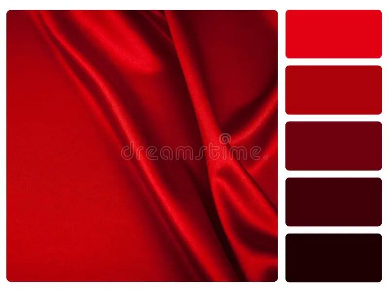 Echantillon Rouge De Palette De Couleur De Satin Illustration Stock Illustration Du Catalogueur Colore 28816245