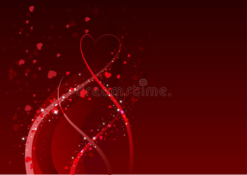 Abstract Background For Valentines Day. Red Heart Symbol