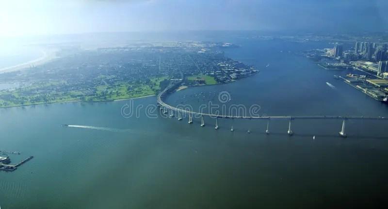 Aerial View Of Coronado Island San Diego Stock Photo