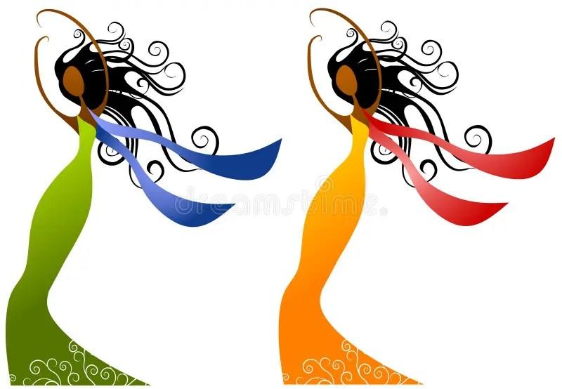 African American Women Beauty Stock Illustration