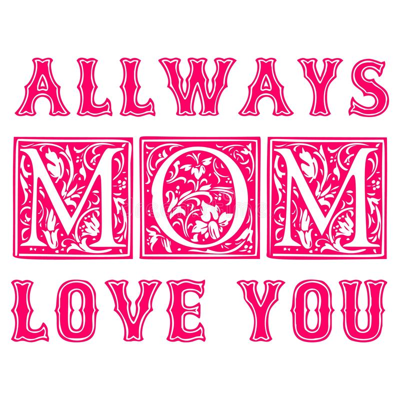 Download Mothers Day Trendy Posters stock vector. Illustration of ...