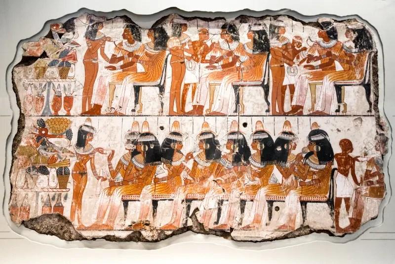Gyptischen Papyrus Malerei Mit Elementen Der Agyptischen Alten