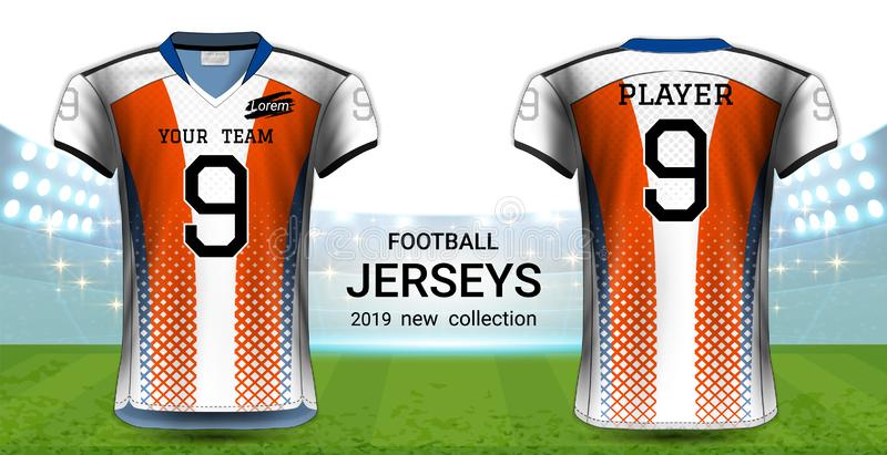 Download American Football Or Soccer Jerseys Uniforms, Realistic ...