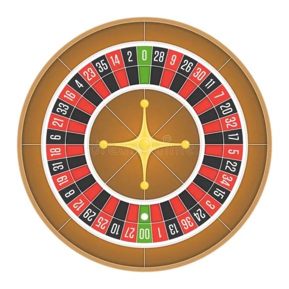 American Roulette Wheel Vector. Stock Vector ...