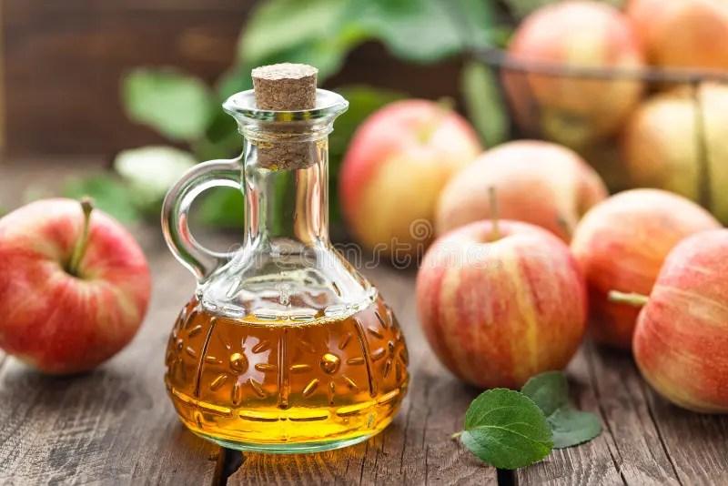 Apple cider vinegar. In a bottle stock image