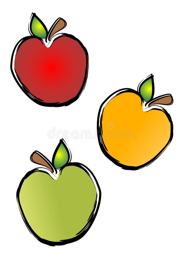 Image result for red yellow green apple clip art