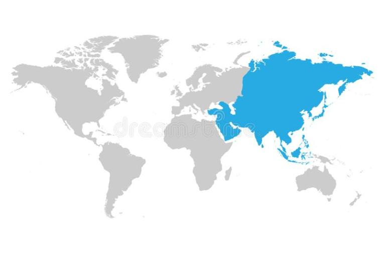 map of asia continent   Yelom myphonecompany co map of asia continent