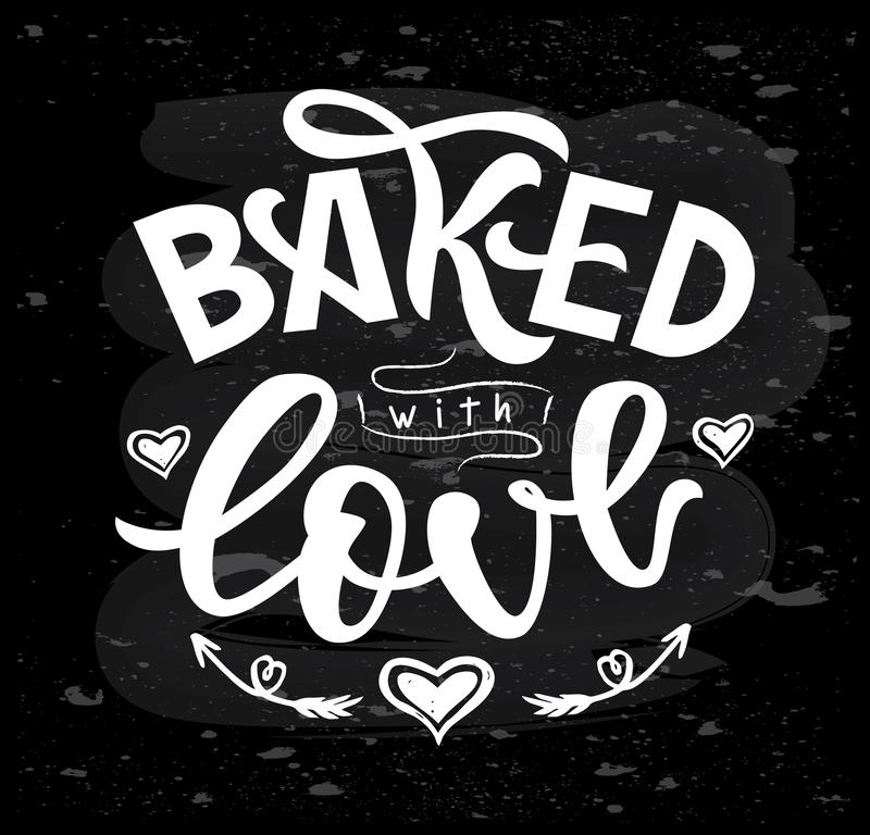 Download Baked With Love Hand Lettering. Typographic Design ...