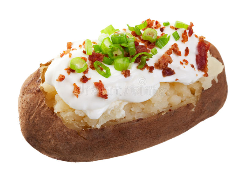 Baked Potato Loaded Stock Photo. Image Of Nutritious