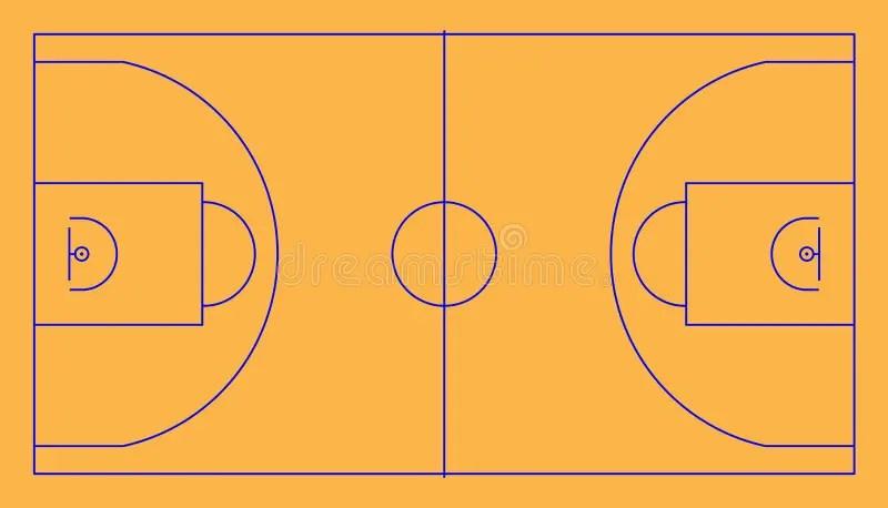 Basketball Court Lines Stock Illustrations 182 Basketball