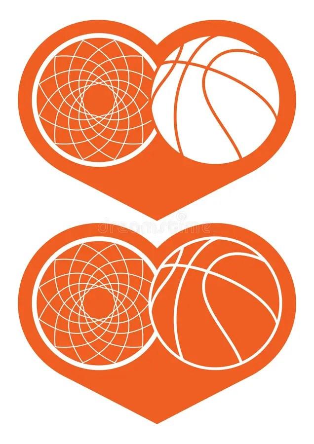 Download Basketball heart stock vector. Illustration of ...