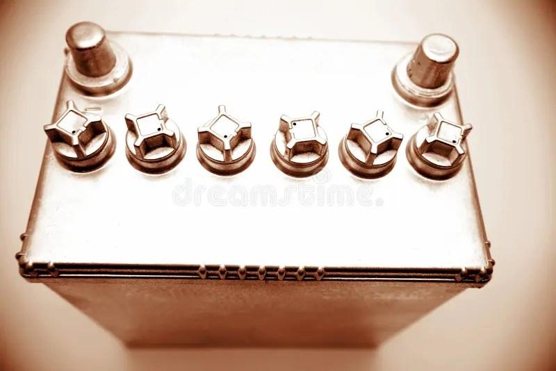 Automotive 12 Volt Battery Stock Photo Image Of Inside