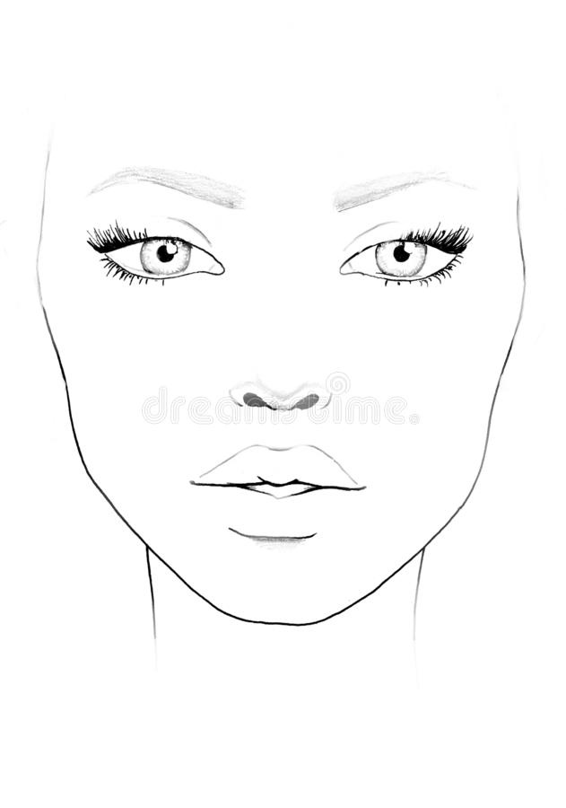 Face Chart Template Stock Ilrations