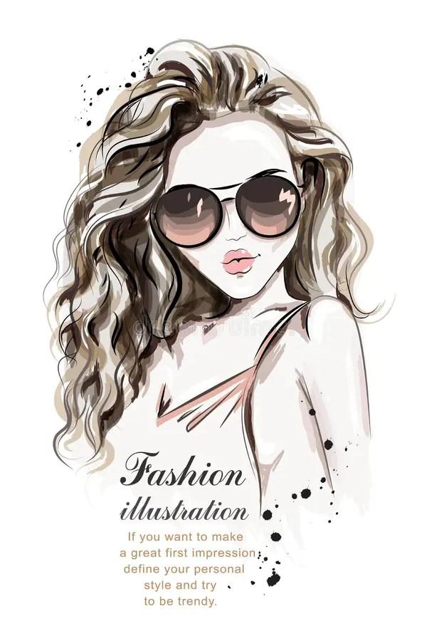Caricature Drawn Woman