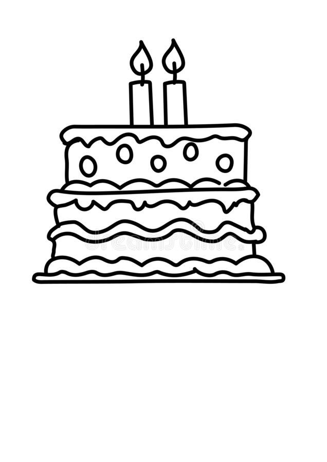 Birthday Cake Black White Stock Illustrations 11 141 Birthday Cake Black White Stock Illustrations Vectors Clipart Dreamstime