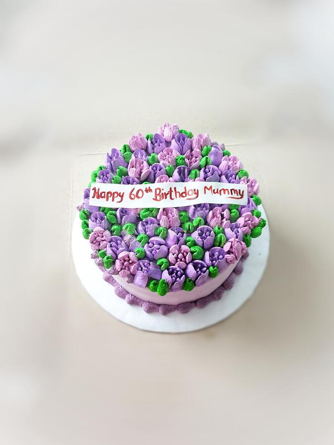 Birthday Cake For 60th Mom Birthday Stock Photo Image Of Party Pink 193175552
